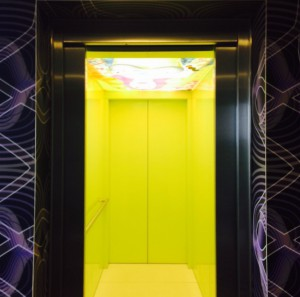 NHOW, NH, Hotel, Berlin, Elevator, Yellow
