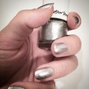 Besparkling, Naillack, nail, silver, sparkle, give-away
