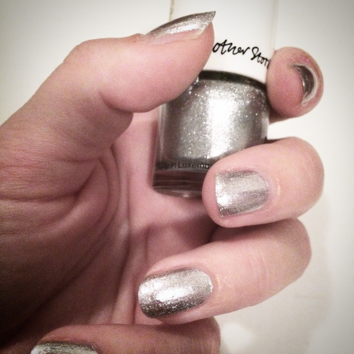 Besparkling, Naillack, nail, silver, sparkle, give-away