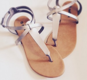 Shoe, Natura, silver, Sandals