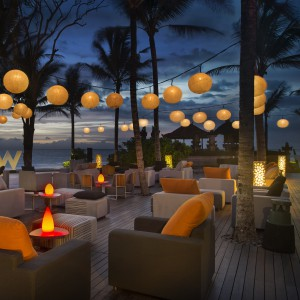 Woo Bar, Hotel W, Beach, Club, Beach Club, Bali, Seminyak, Sunset, Dining, Palm, Sun, Pool, Relax, Cocktail, View