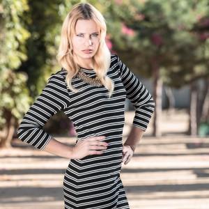 model, miriam ernst, Be-Sparkling, Fashion, dress, long, striped, elegant, gold, fashionblog, fashionblogger, blog, outfit, ootw, ootd, zara, h&m, blond