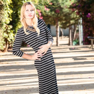 Be-Sparkling, Fashion, fashionblog, fashionblogger, dress, long, striped, elegant, blog, outfit, ootw, ootd, zara, h&m, blond