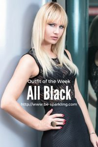 Black, outfit, all black, miriam ernst, blond girl, fashion blog, fashion blogger