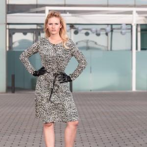 miriam ernst, model, naulover, dress, green, leopard, print, leather, gloves