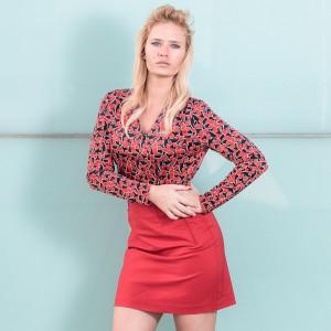 miriam, ernst, model, naulover, blouse, all, red, heels