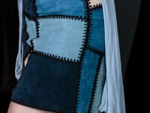 Fashion, blue leather, model, blog, blogger, miriam ernst, german, blonde girl, all blue, outfit, zara skirt, one ocean club, bar
