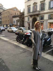 Miriam Ernst, Fashion Week, Fashion Blogger, MFW-2016, siramilano, look, outfit, coat, silver shoes