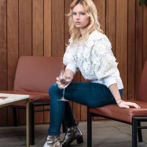 Miriam Ernst, Fashion Blogger, bershka, silver shoes, Menchen Thomas, white shirt, one ocean club