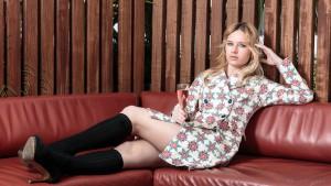 Miriam Ernst, Over-knee, socks, Fashion Blogger, Menchen Tomas, Jacket, over knee socks, blonde, girl