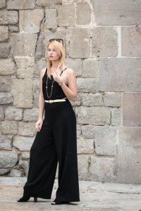 Miriam Ernst, Fashion blogger, black, jumpsuit, mango, elegant