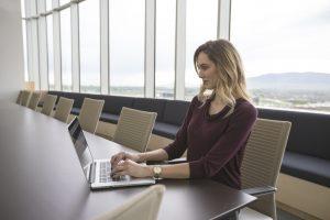 job interview, job search, mac book, woman, office