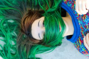 Help, green hair, after swimming, chlor, express help