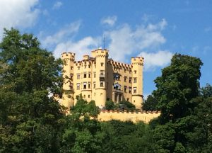 Castle, Neuschwanstein, Schloss, Bavaria, Mountains, Forrest