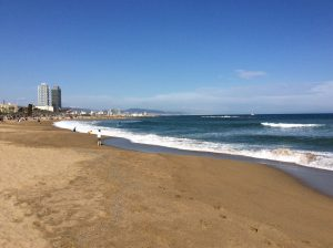 Barcelona, Beach, Sun, Winter
