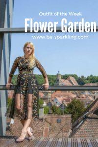 Miriam Ernst, fashion blogger, flower garden, flower print