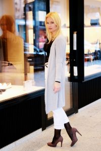 Miriam Ernst, white, jeans, white jeans, aly john, brand, winter, outfit, grey cardigan, mango top, blonde girl, fashion blog, fashion blogger, fashion