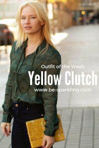 miriam ernst, fashion blogger, yellow clutch