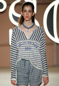 SS17, Yerse, stripes, slogan, grey, outfit, clothing, model, fashion blog, fashion blogger