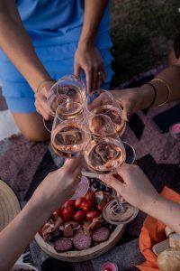 Wein, Rosé, Roséwein, Frankreich, Provence, Gläser, feiern