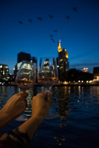 Provence, Rose, rosé, Wein, Gläser, Nacht, Skyline