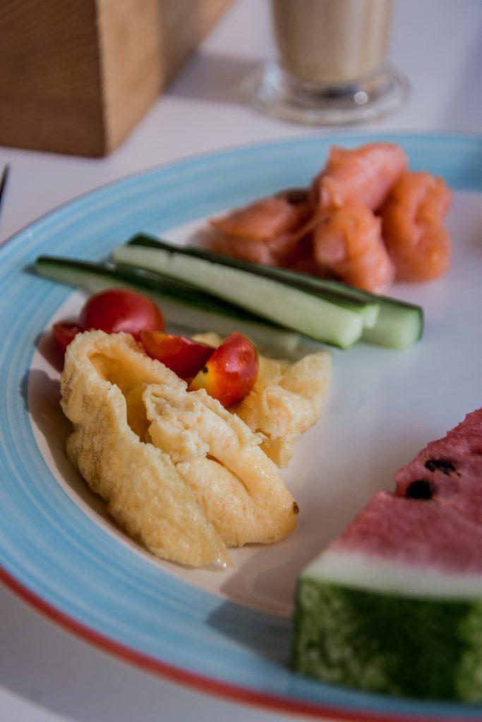 Frühstück, Melone, Gurke, frisch