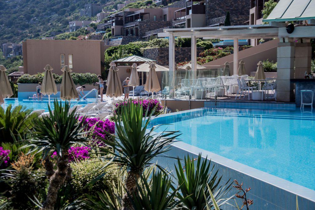 Hotel, Pool, Kreta, Palmen