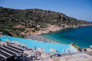 Kreta, Küste, Osten, Hotel, Pool, Ägäis