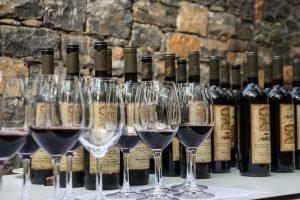 Rotwein, Gläser, Weinglas, Weinprobe