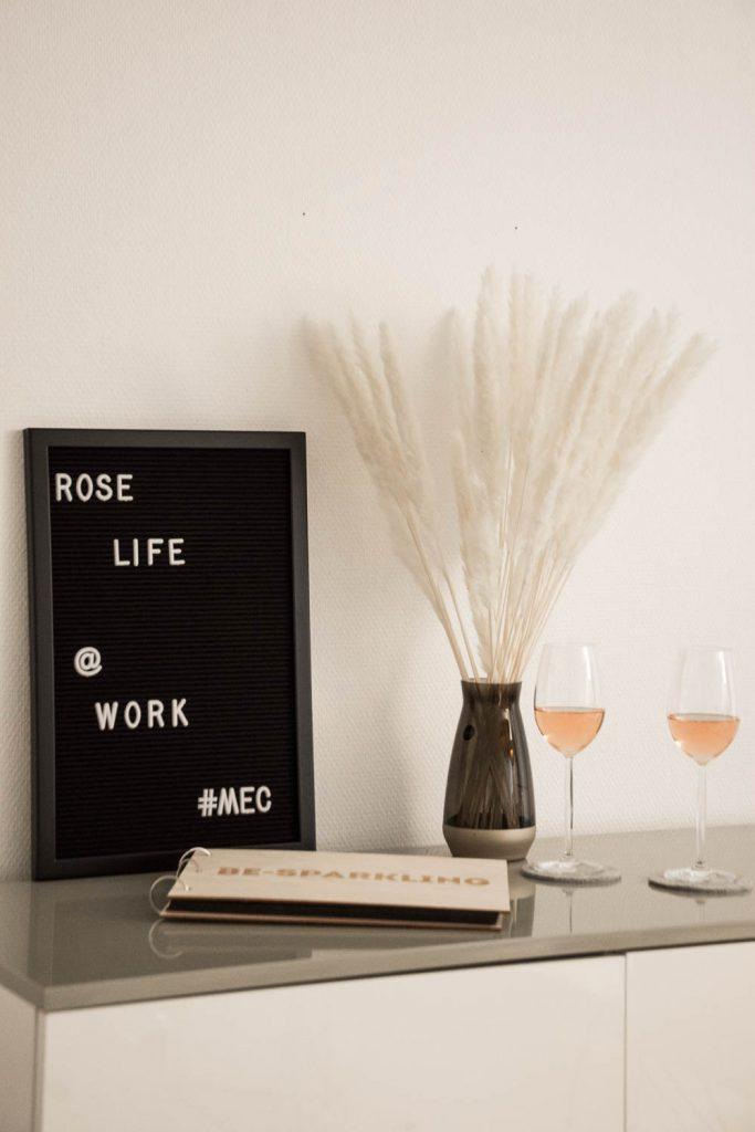 Vin de Provence, Rosé Wein, Büro, Office, Weingläser, Work, Life