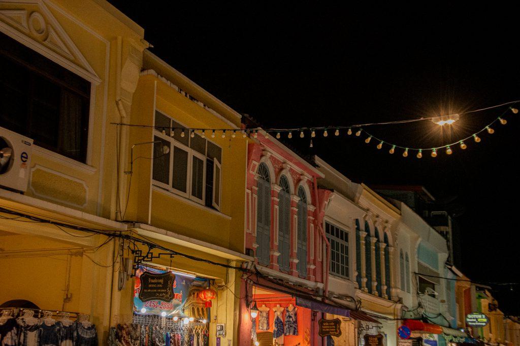 Phuket Town, Thailand, street market, night