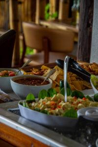 Grenada, Karibik, Restaurant BBS Crab, Magazine Beach, Salat, Nachos