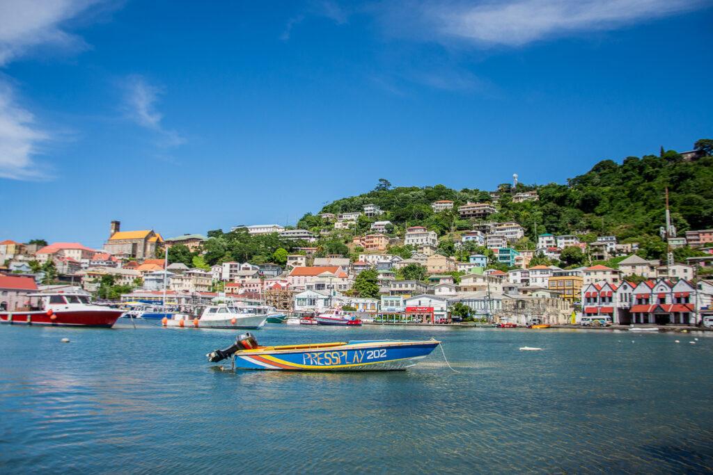 Grenada, Saint-George, Küste, Karibik, Boote, Meer