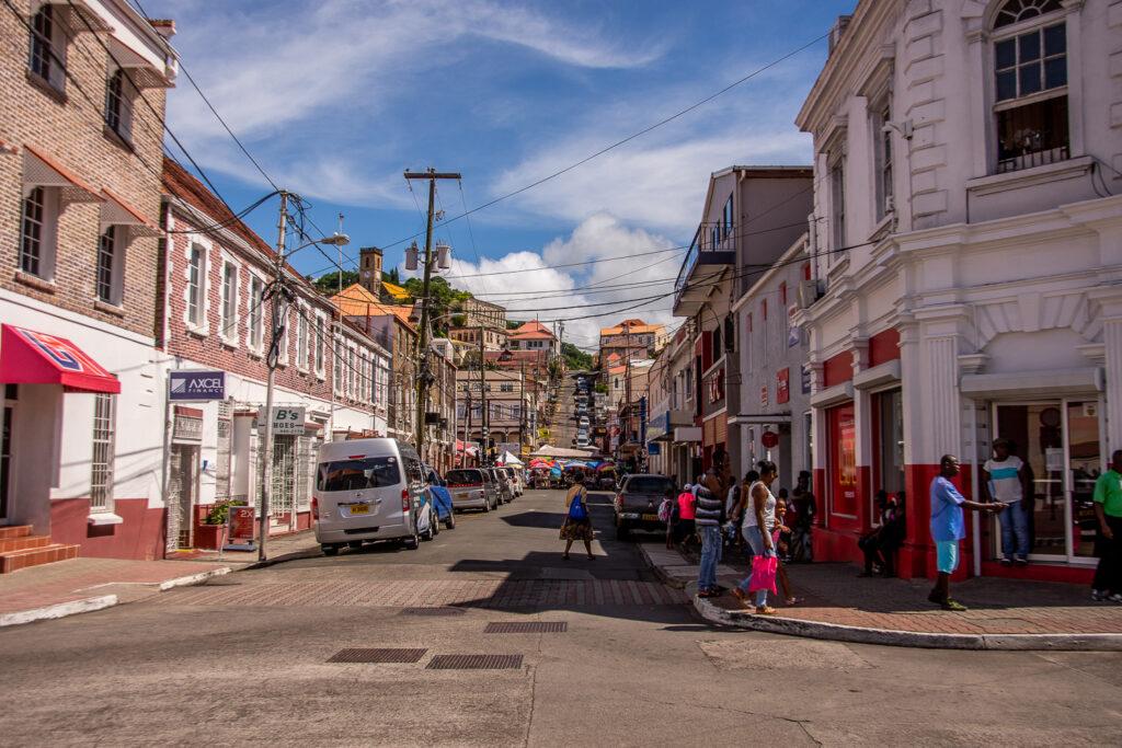 Grenada, Saint George, Straßenmarkt, Stadt, Karibik