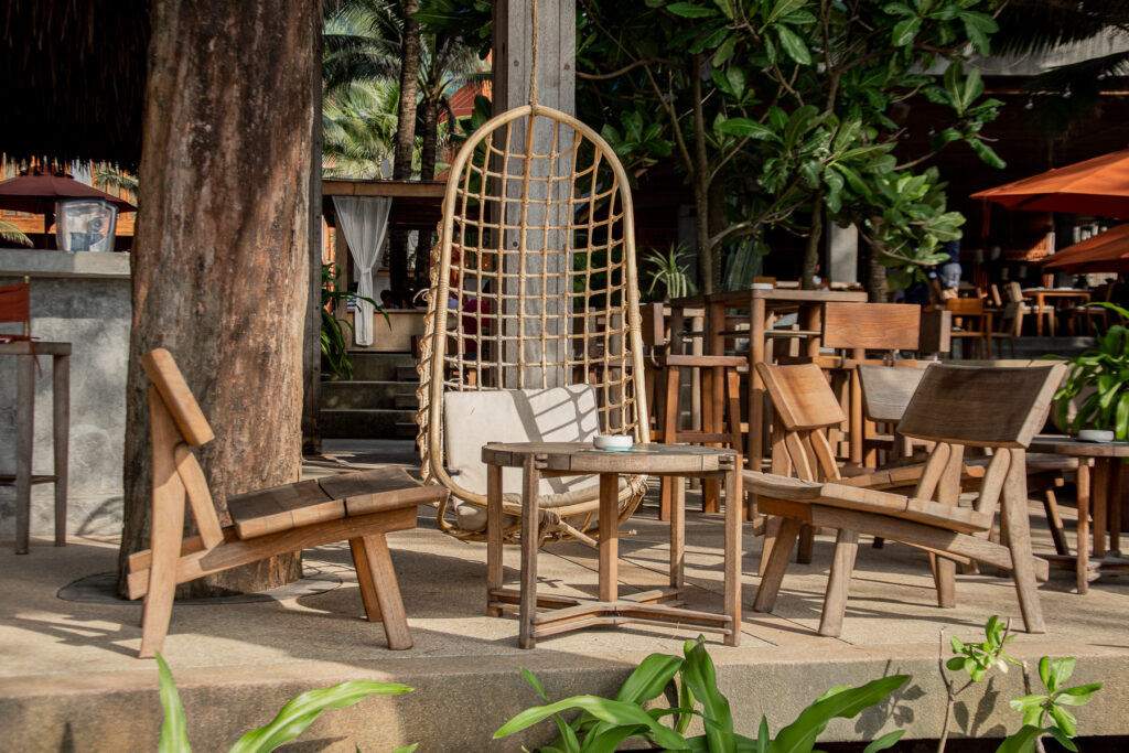 Thailand, Phuket, cafe-del-mar, interior, nature, wood, beach club