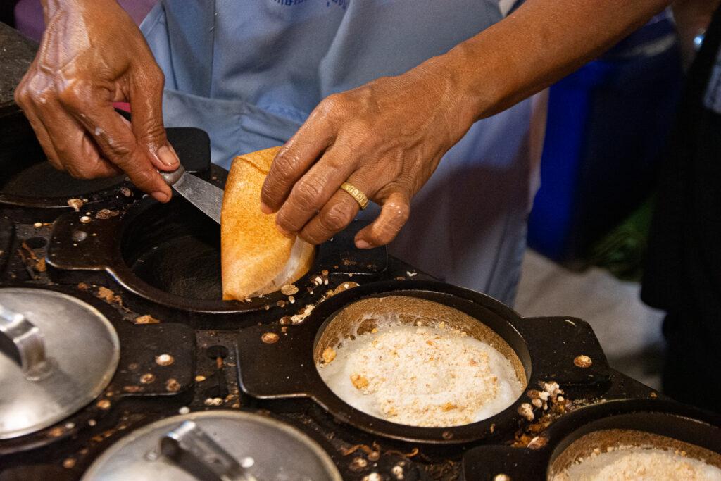Thailand, street food, street market, Phuket,rice, grilled