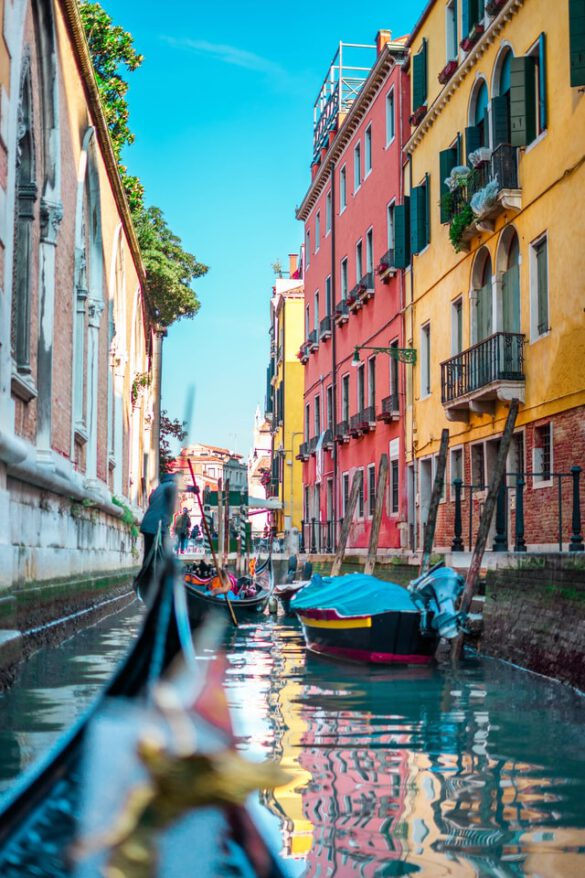 Italy, Venice, Gondolas, Water, Houses, Colorful