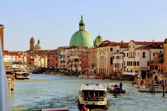 Italy, Venice, Gondolas, Water, Houses, Boats