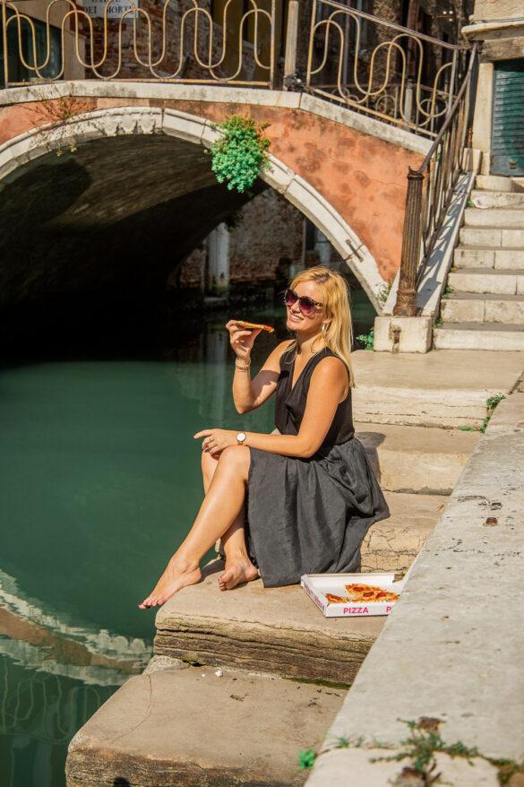 Italy, Venice, Miriam Ernst, Bridge, Water, Pizza